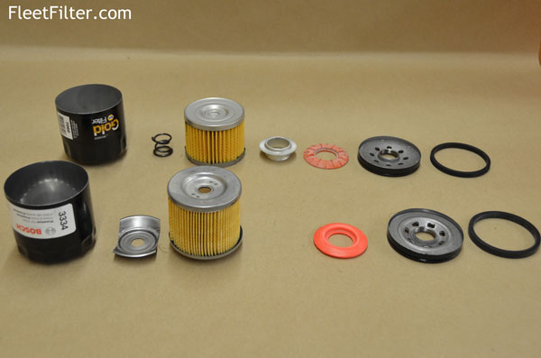 parts exploaded - napagold oil filter vs bosch
